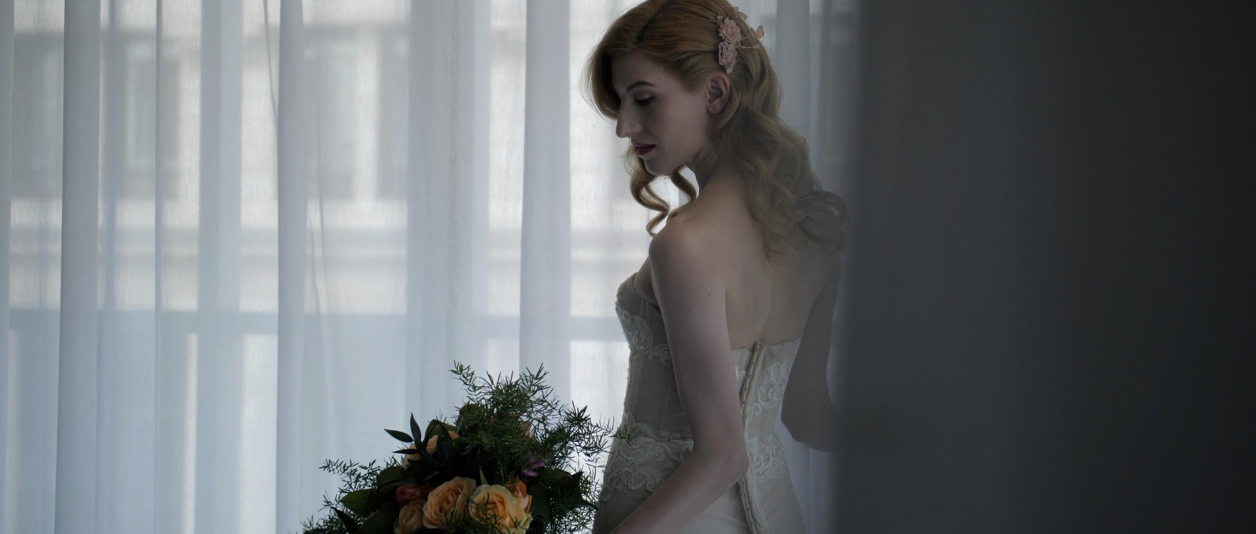 bride turned away london wedding videographer film