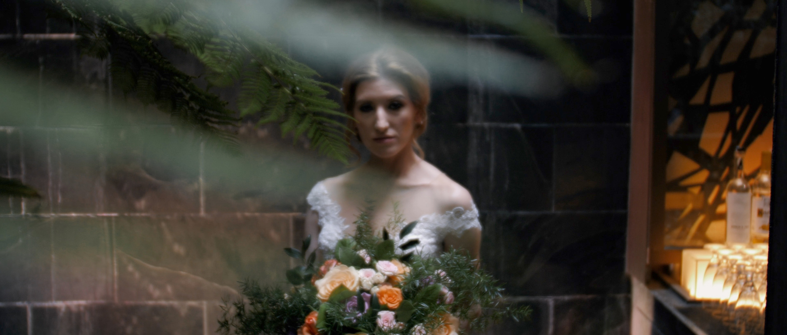 Water fall bride london wedding films videographer