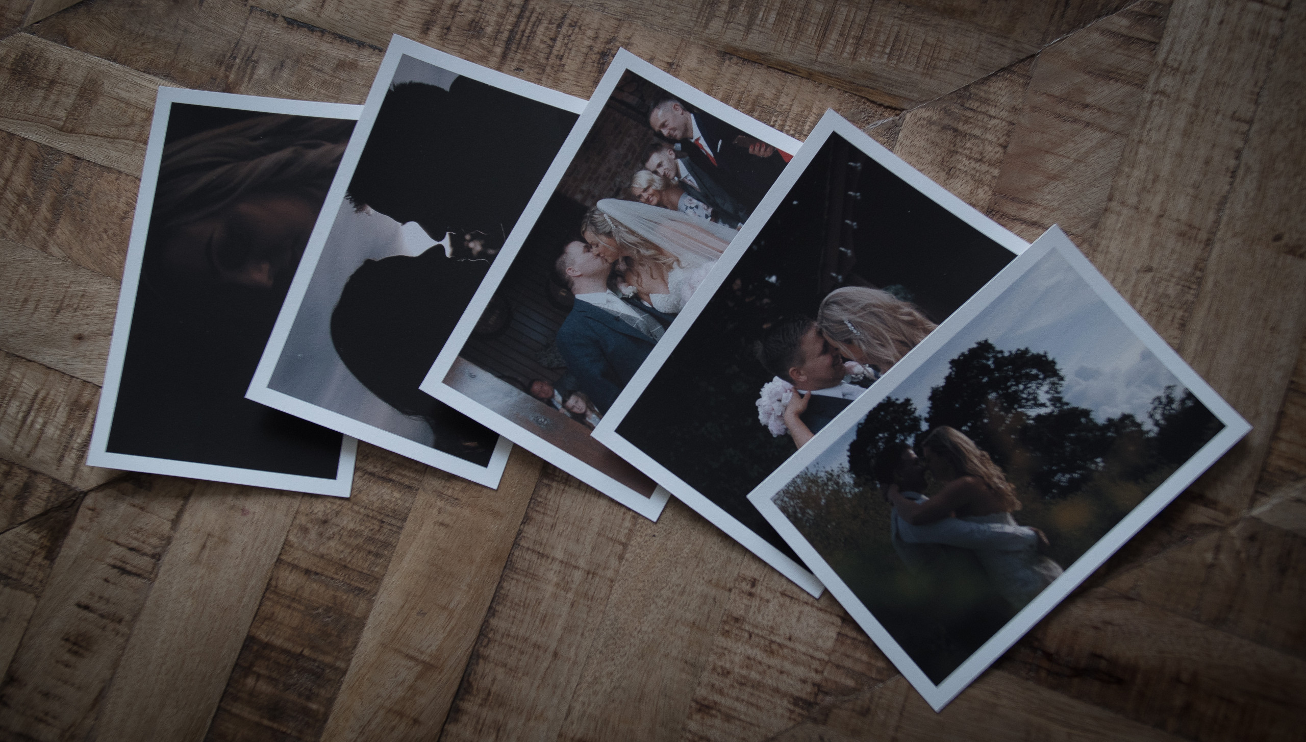 prints of frames from wedding film