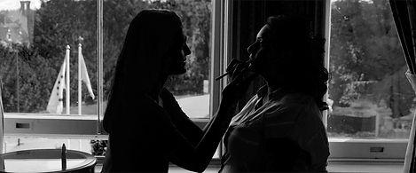 Down Hall wedding videograper bride makeup aloha london films