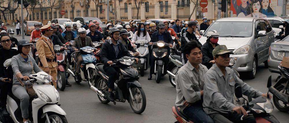 Hanoi cinematographer film aloha london films - Surrounded by bikes