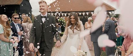 Confetti at wedding film videographer al