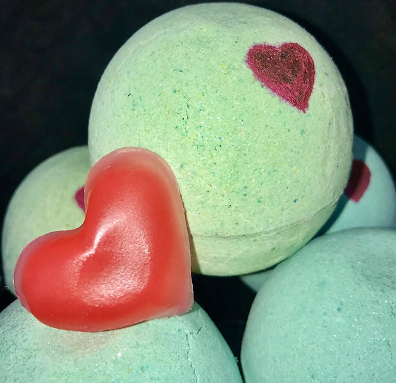 The Grinch's Small Heart Bath Bomb - Pack of 6