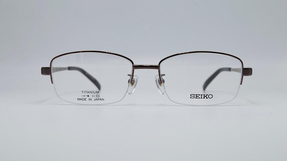 SEIKO รุ่น T8027 กว้างกรอบ 55 กว้างจมูก 18 ยาวขา 140 สี IO