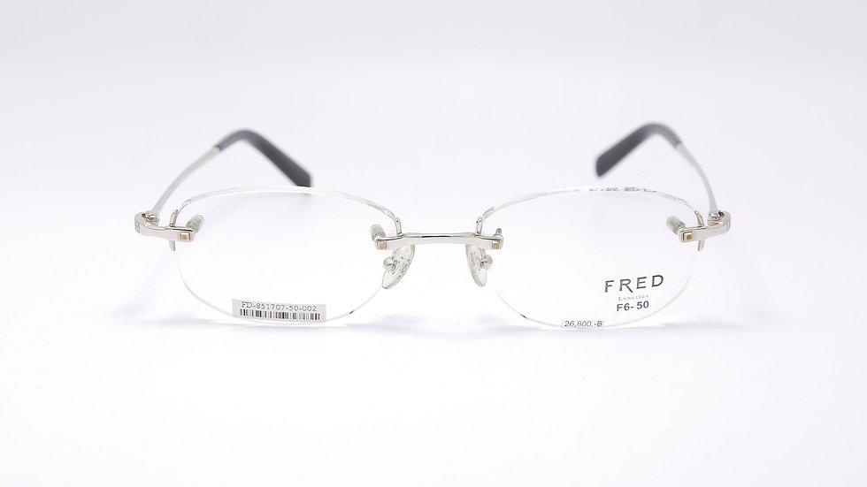 FD 851707 กว้างกรอบ 50 สูง 19 ยาวขา 135 สี Silver
