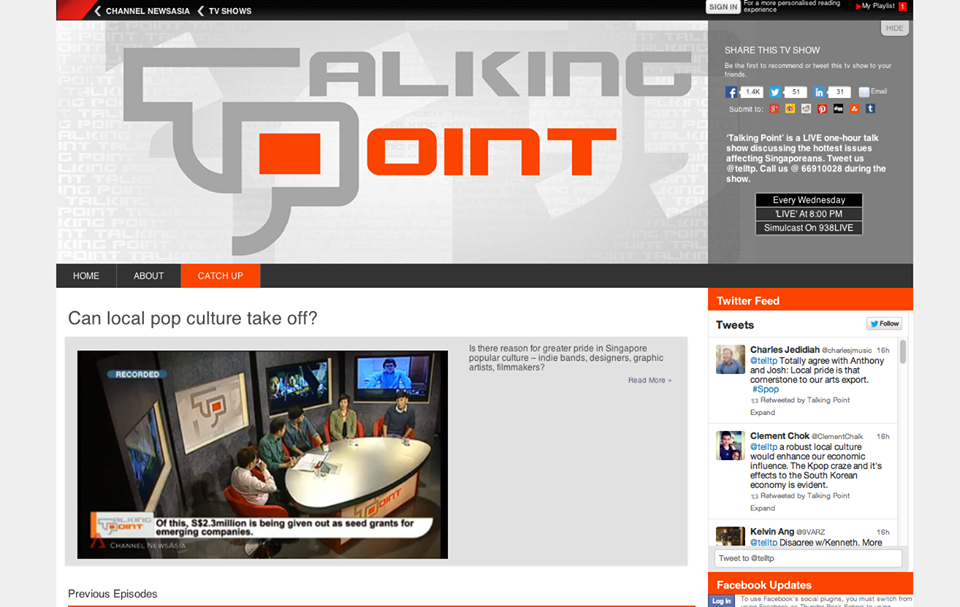 Shows: Talking Point, Can Local Pop Culture Take Off