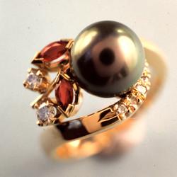 Black Pearl Dress Ring
