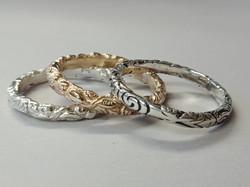 Briar and Manaia band rings
