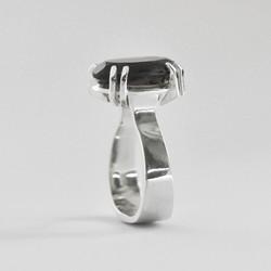 Raina Smoky Quartz large dress ring