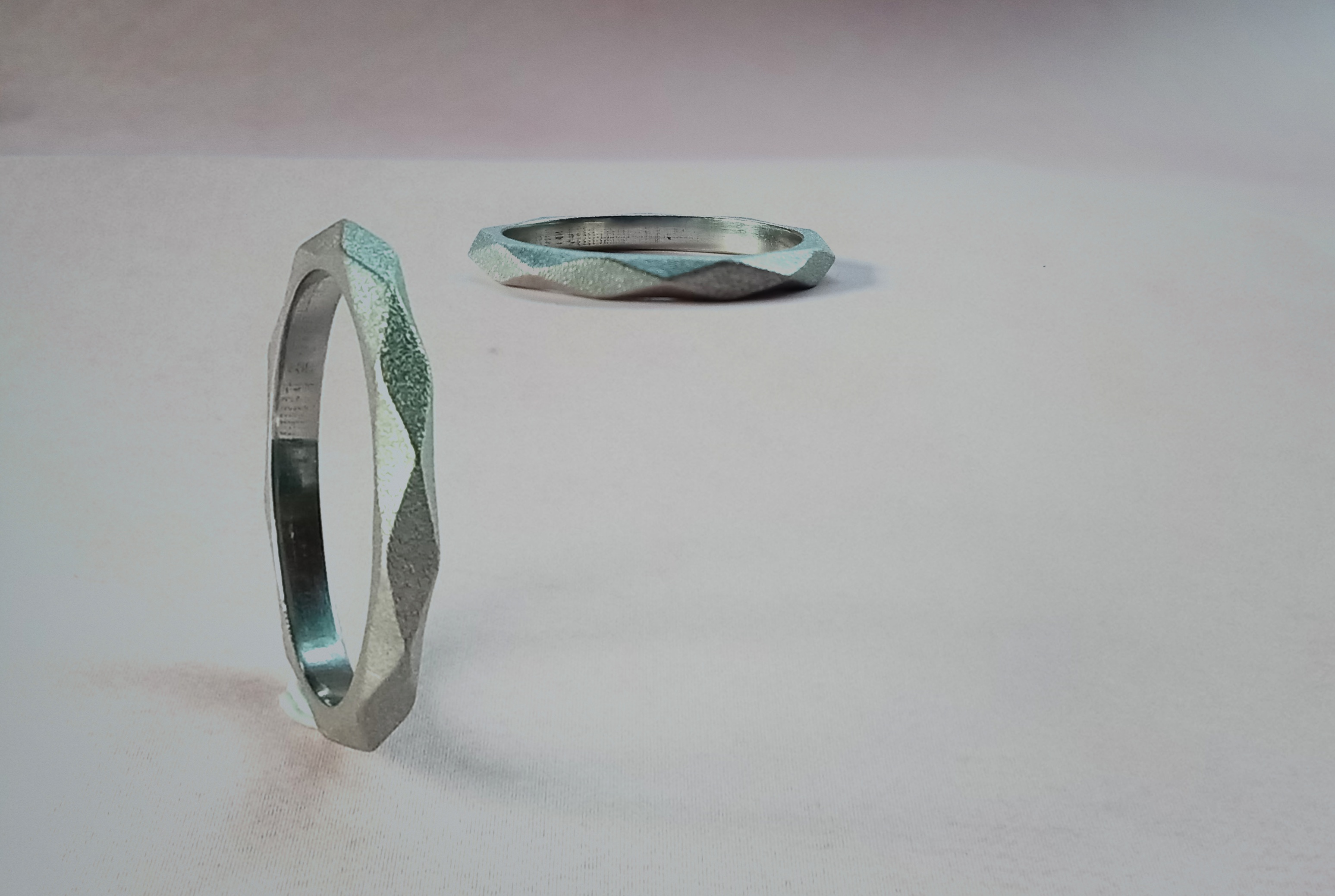 Platinum Lozenge Ring