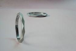 Platinum Lozenge Ring