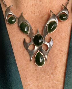 Pounamu breastplate necklace