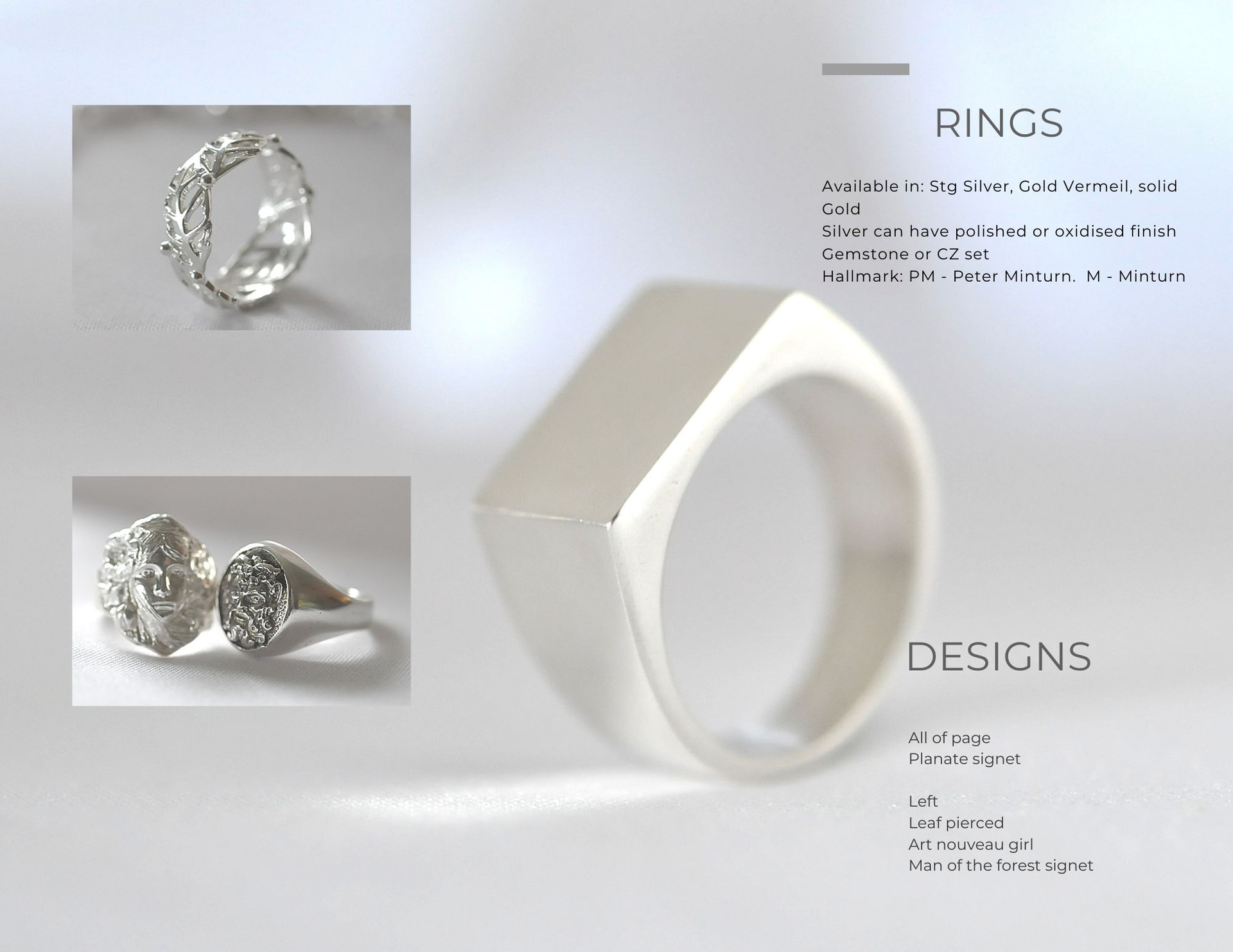 Textured & Polished Rings