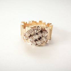 Old Mine Cut Diamond Ring