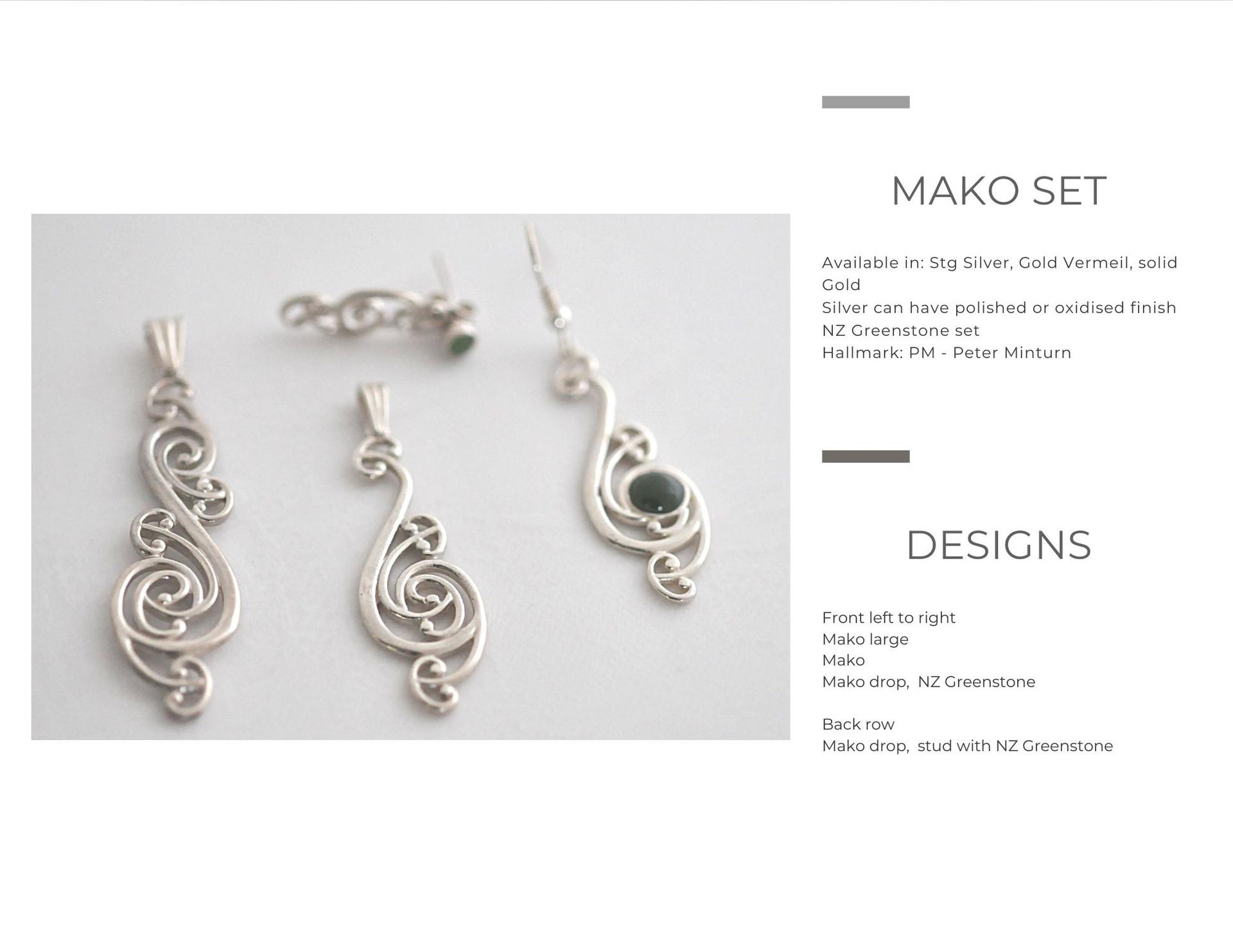 Mako Earrings & Pendants