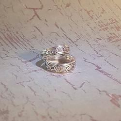 Celtic Labradorite matching rings