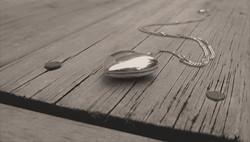 White heart locket