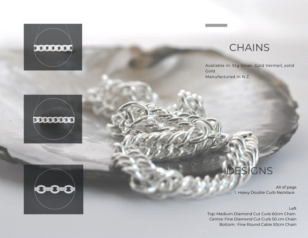 Solid NZ Made Gold & Silver Chains