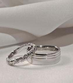 White gold wedding bands