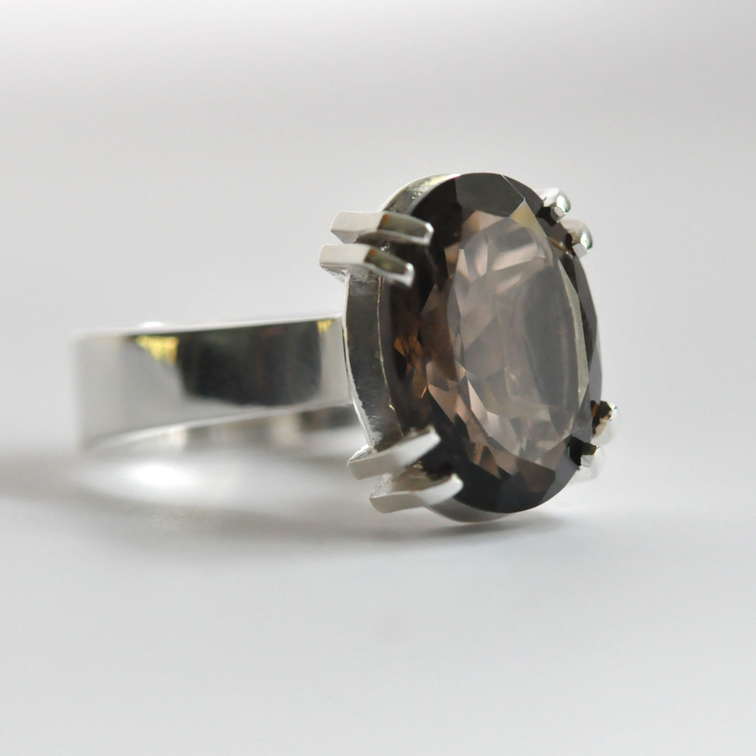 Raina Smoky Quartz large dress ring