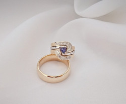 Tanzanite & diamond wedding rings