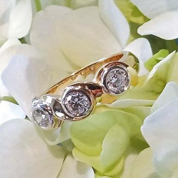 three stone Diamond ring