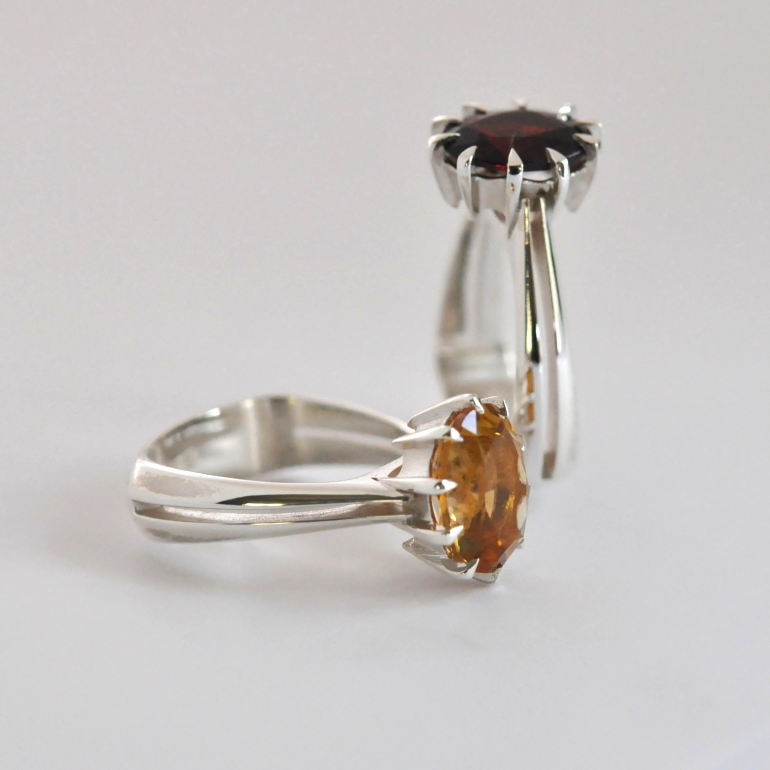 Eve Citrine and Garnet ring