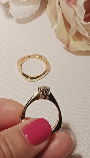 The use of the betrothed initials on this engagement ring is a very touching design element.  The embellishment will always celebrate a very special time.