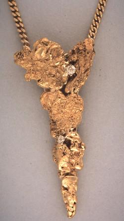Gold Nugget Pendant