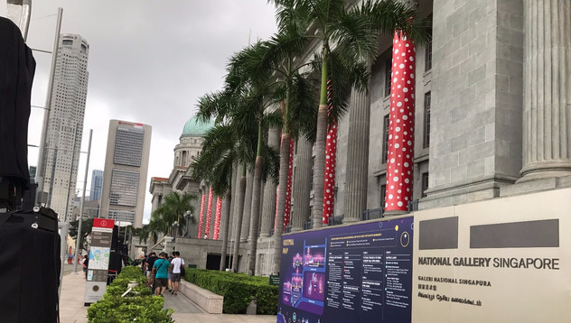 Yayoi Kusama en el Museo Nacional de Singapur