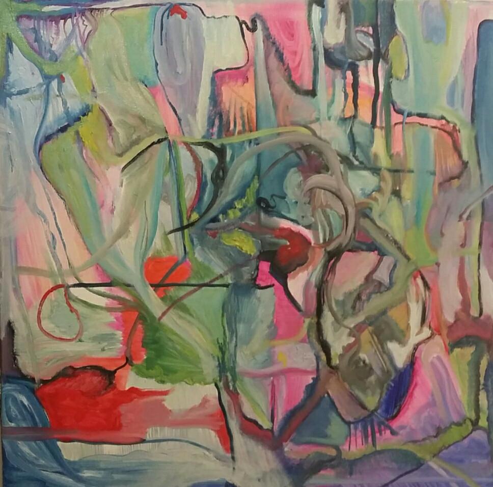 -avni eshchar yael -oil on canvas-50x50c