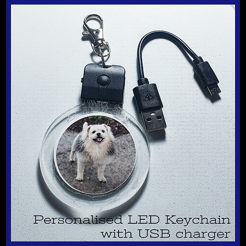 LED Keychain with charger