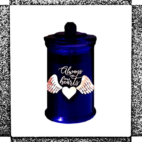 """""""Always in our heart"""" Candle"""