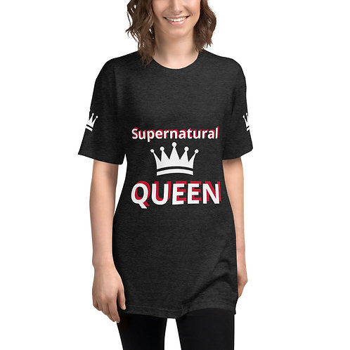 Supernatural Queen Unisex Tri-Blend Track Shirt