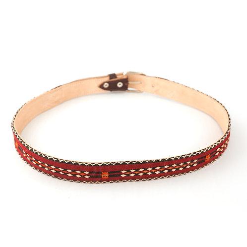 Panzerotta 3 - Medium leather and carpet belt