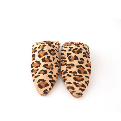 Leopardo - Pointed Babouche Slippers