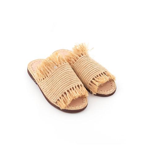 Ciabatta - Fringes Raffia Sandals