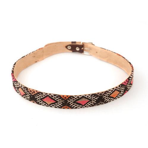 Panzerotta 2 - Medium leather and carpet belt