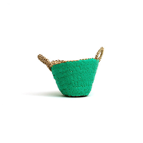 Mini - Sequin Basket - Aquamarine
