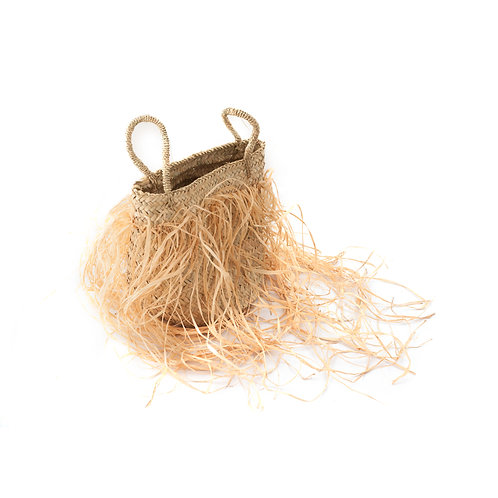 Cugino It - Straw bag with long fringes