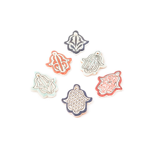 Manina - Hamsa Hand Ceramic Pendant