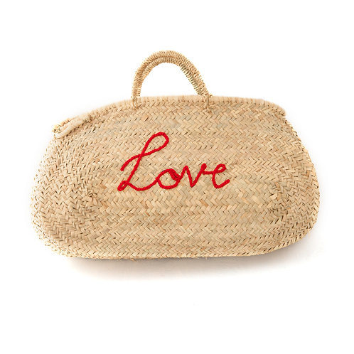 Smile and Love - Special design oval straw bag