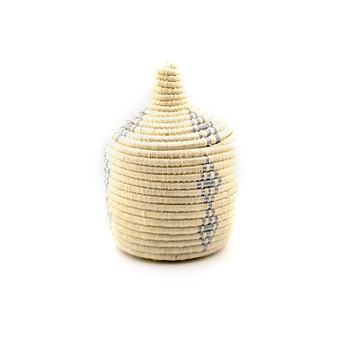 Cream and Silver Pagnotta - Berber basket