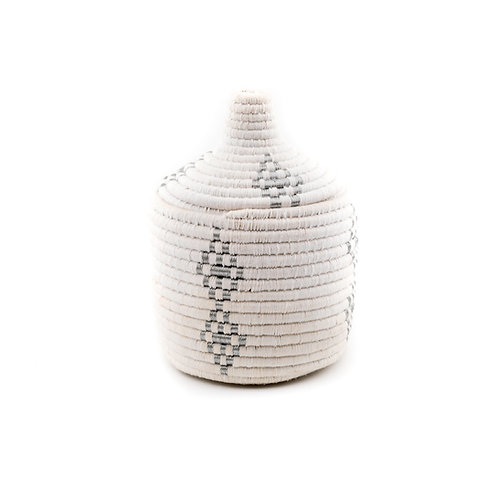 White and Silver Pagnotta - Berber basket