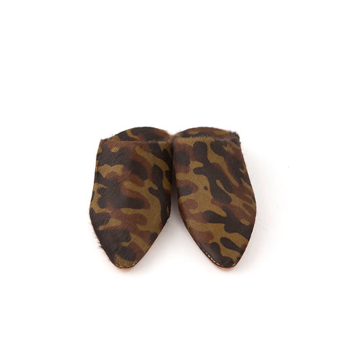 Camouflage - Pointed Babouche Slippers