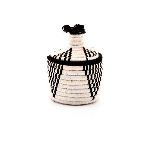 Paninetto Black and White - Small berber basket