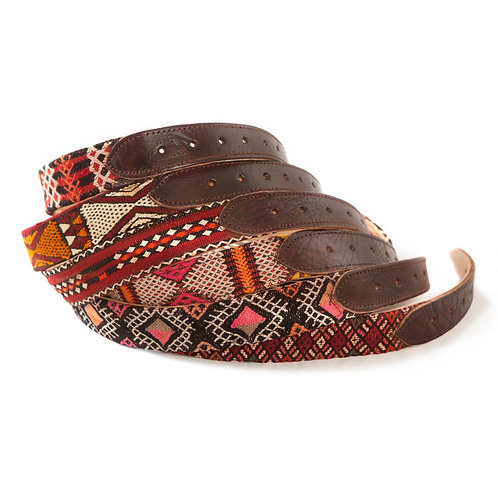 Panzerotta 4 - Medium leather and carpet belt