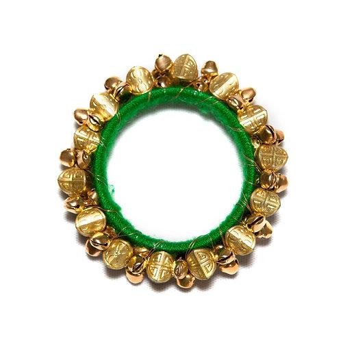 Pushkar - Indian Bells Bangle - Green