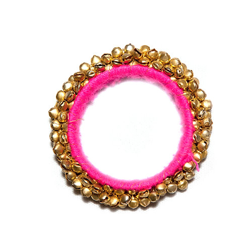Haveli - Indian Bells Bangle - Pink