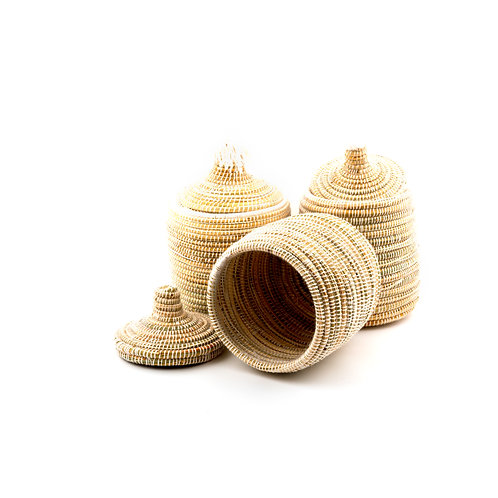 Mono Pagnotta White - Berber basket large